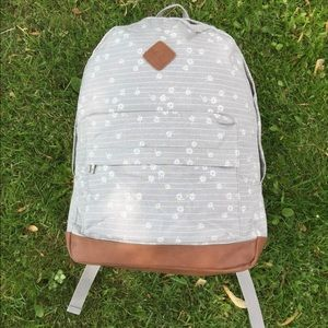Prince & Fox Gray Floral Backpack